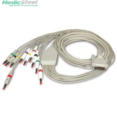 10 LEAD PATIENT CABLE KIT (cable + snap connector)