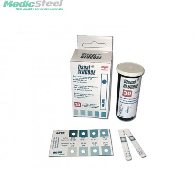 VISUAL GLUCOSE STRIPS FOR SELF TEST