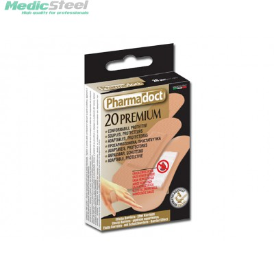 PHARMADOCT PLASTERS WITH HEMOSTATIC GAUZE carton of 12 boxes of 20