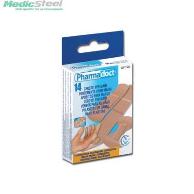PHARMADOCT HAND PLASTERS 3 sizes carton of 12 boxes of 14