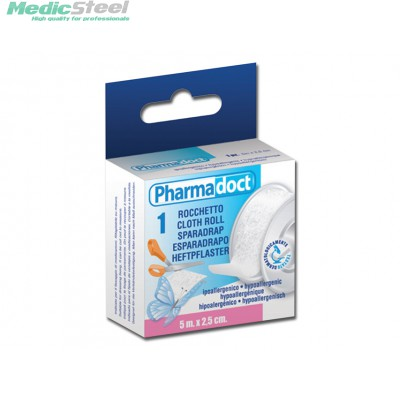 PHARMADOCT CLOTH ROLL 5 m x 2.5 cm carton of 12 boxes
