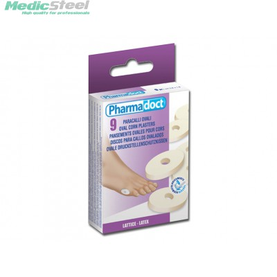 PHARMADOCT OVAL CORN PLASTERS carton of 12 boxes of 9
