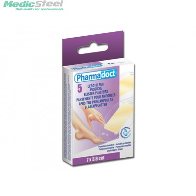 PHARMADOCT BLISTER PLASTERS carton of 12 boxes of 5