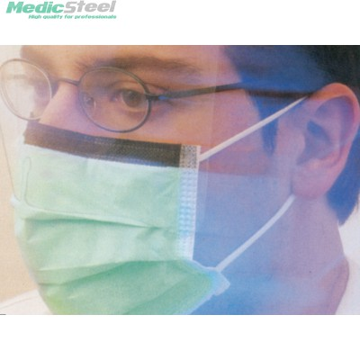 MASKOP SURGICAL MASK ear loop green