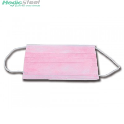 99% ADULT FILTERING MASK 3 PLY pink with ear loops