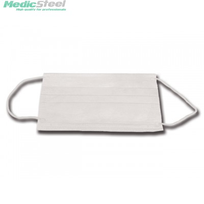 99% PEDIATRIC FILTERING MASK 3 PLY white with ear loops
