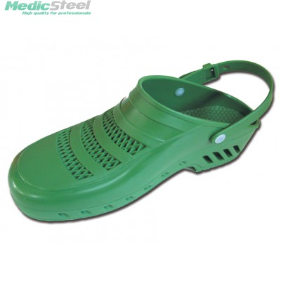 GIMA PROFESSIONAL CLOGS with strap and pores - green