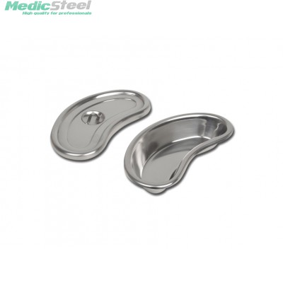 S/S KIDNEY DISH deep with lid