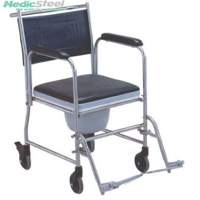 COMMODE WHEELCHAIR - stainless steel