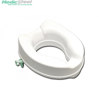 RAISED TOILET SEAT with fixing system - 10 cm