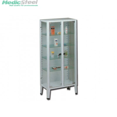 CABINET 2 doors 4 shelves tempered glass