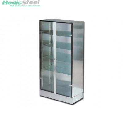 GLASS INOX CABINET
