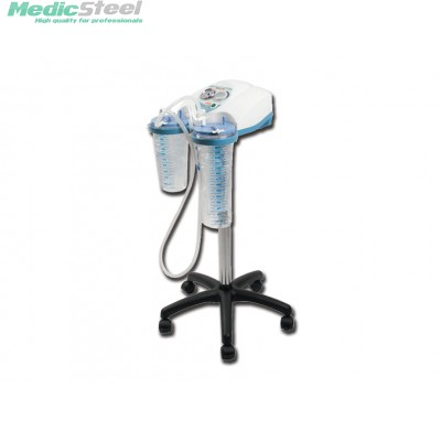 SUPER VEGA SUCTION ASPIRATOR 2x2l - on trolley with footswitch