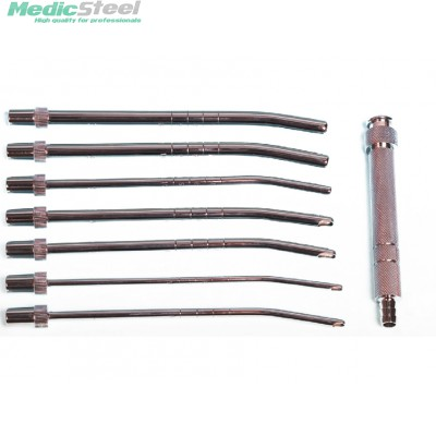 SET OF UTERINE SUCTION CANNULAS