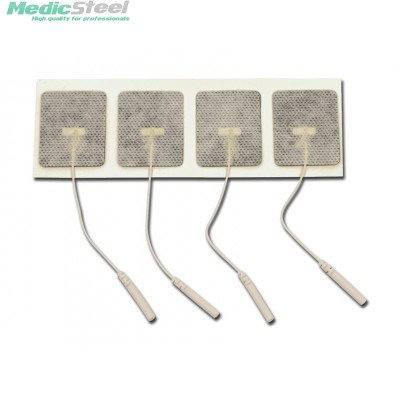 GELLED ELECTRODES 45 x 35 mm - with cable