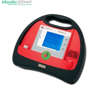 PRIMEDIC HEART SAVE AED M  with monitor, AKUPAK rechargeable battery and clip charger