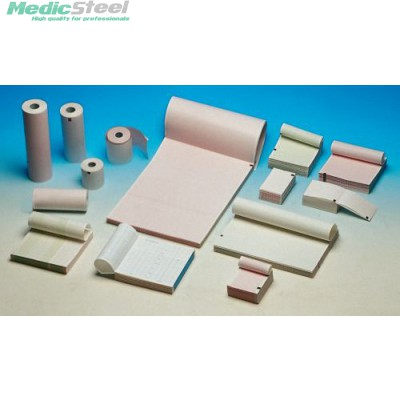ECG THERMAL PAPER PACK - red grid- 90 x 90 mm