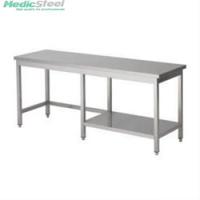 Werktafel Topline 600 diep met half bodemschap rechts