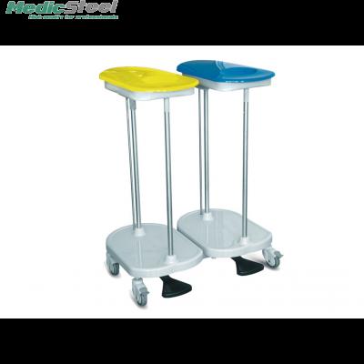 Wastrolley met voetpedaal dubbel