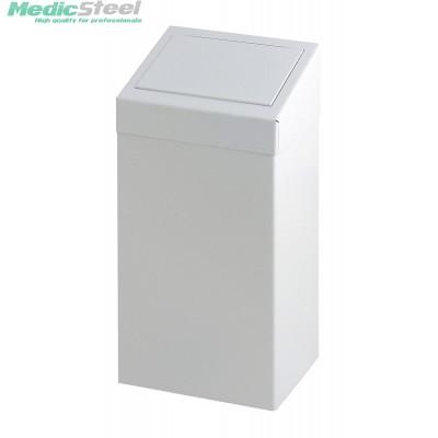 Metalen afvalbak met pushklep 50 ltr.