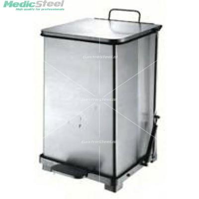 Afvalbak vierkant + pedaal 90 LTR