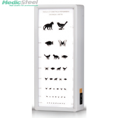 ANIMALS OPTOMETRIC CHART 5.5 m not illuminated