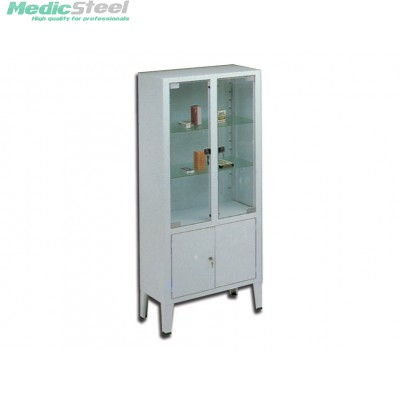 CABINET 4 doors 3 shelves tempered glass