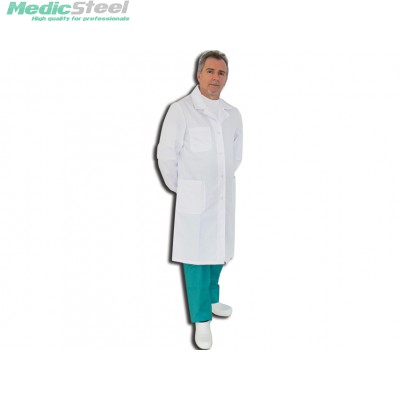 DOCTOR'S WHITE COAT 100% COTTON men