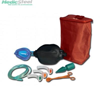 GIMA RESUSCITATOR BAG - adult with kit bag - with double chamber