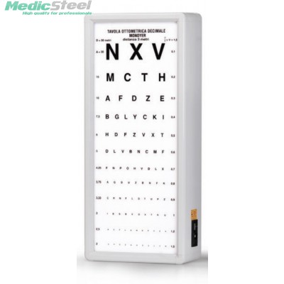 MONOYER OPTOMETRIC CHART 3 m