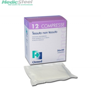NON WOVEN STERILE GAUZE PADS - box of 12 pcs.