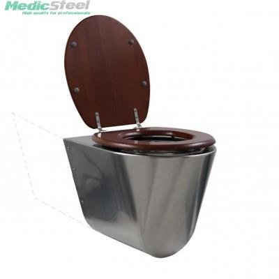 Rvs toilet - wandmodel verlengd conisch