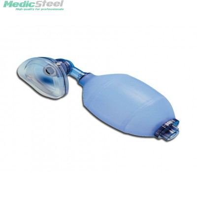SILICONE RESUSCITATOR - with facemask