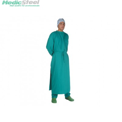 Surgery room coat green cotton