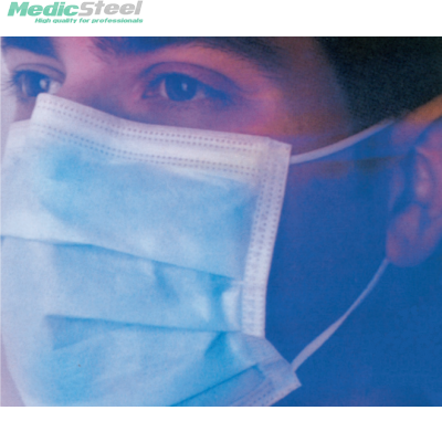 MASKOP SURGICAL MASK lacets light blue