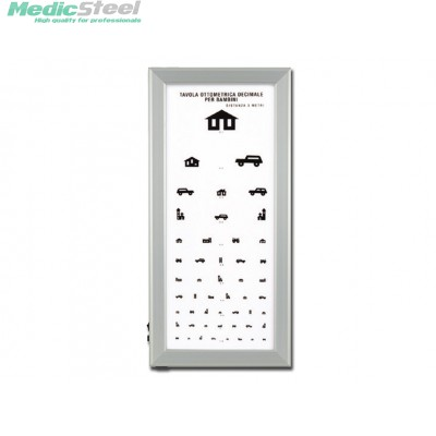 ULTRA SLIM LED OPTOMETRIC CHART - Children