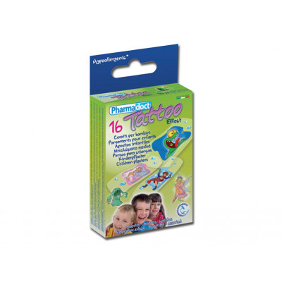 PHARMADOCT TATOO CHILDREN PLASTERS 2 sizes