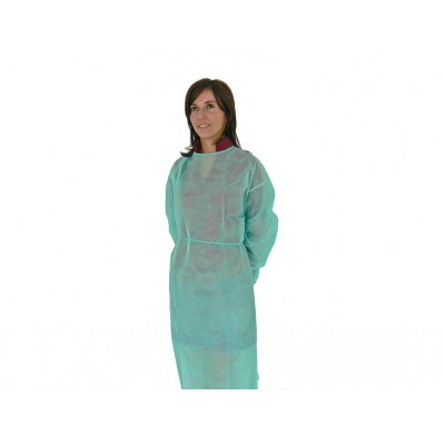 DISPOSABLE POLYTHENE GOWNS green - non sterile