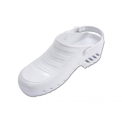 GIMA PROFESSIONAL CLOGS with strap without pores - white