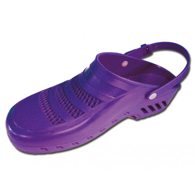 GIMA PROFESSIONAL CLOGS with strap and pores - violet