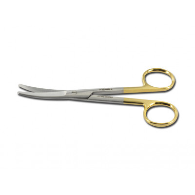 GOLD MAYO SCISSORS curved