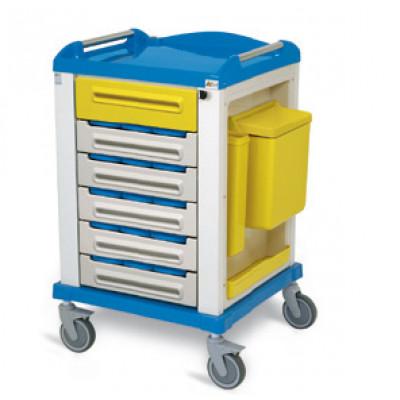 Medicijnwagen met 15 3 vaks bakjes