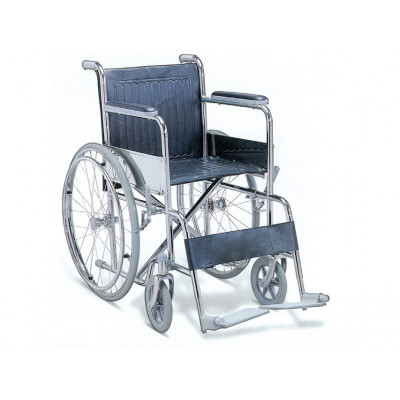 STANDARD FOLDING WHEELCHAIR chromed