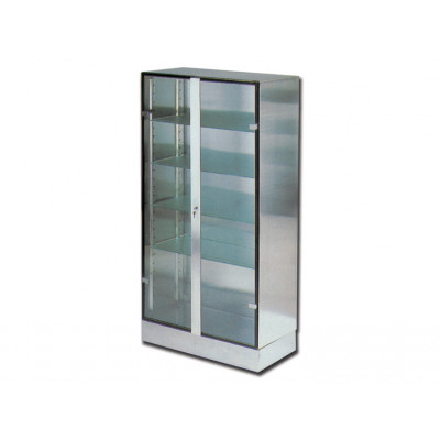 GLASS INOX CABINET