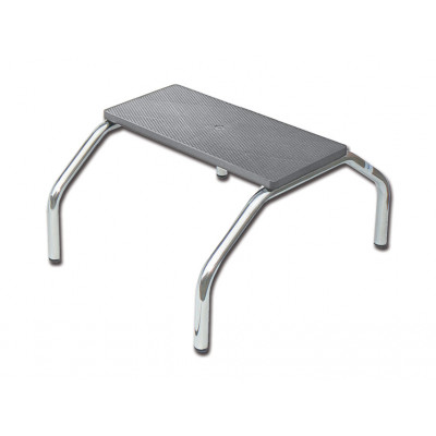 FOOT STOOL - 1 step - chromed
