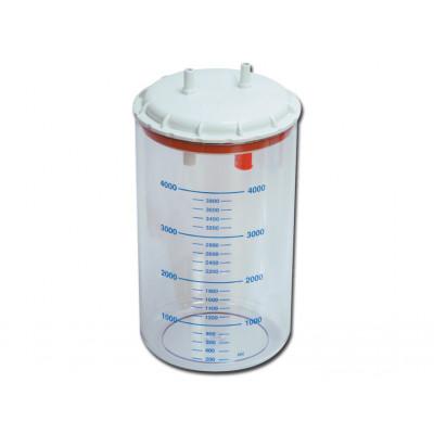 BOTTLE 4 l with cover autoclavable 121°C