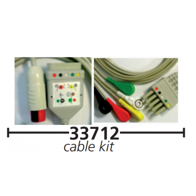 5 LEAD PATIENT CABLE KIT new model