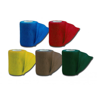 COHESIVE NON WOVEN ELASIC BANDAGES - 5 colours