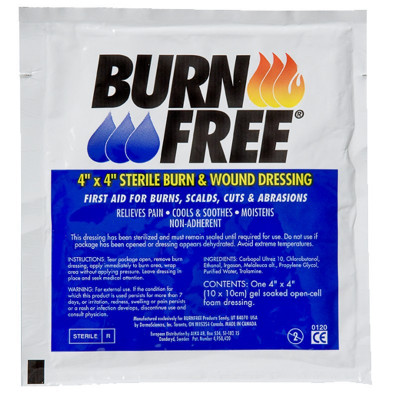 BURNFREE DRESSINGS DIFFERENT SIZES