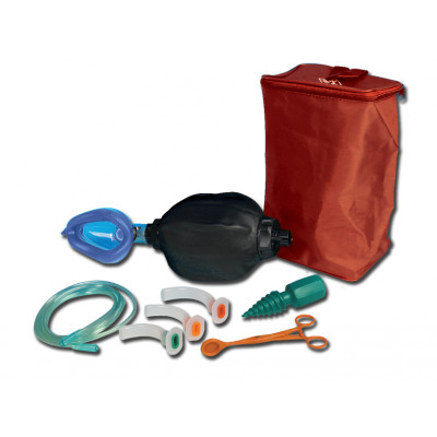 GIMA RESUSCITATOR BAG - adult with kit bag - with double chamber
